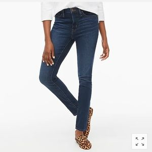 J Crew High Rise Super Skinny Straight Leg Jeans in Perfect Blue 24
